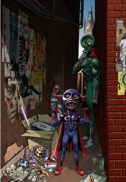 Comics Superheros, by Jamie Hewlett