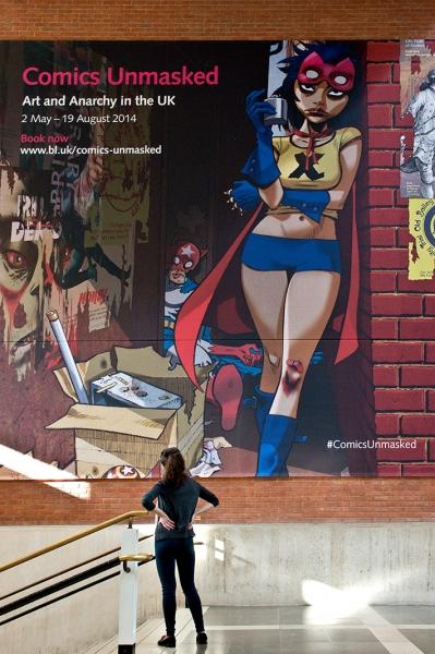 Jamie Hewlett's new artwork for Comics Unmasked