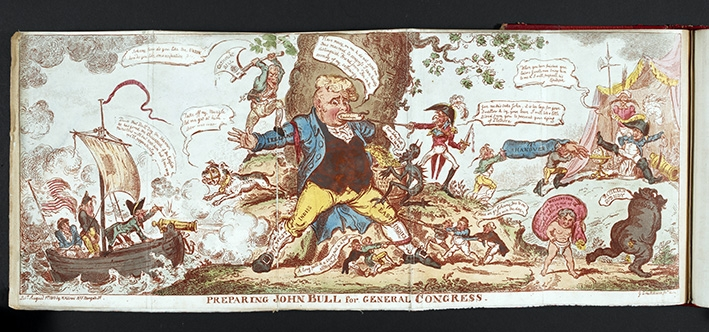 Preparing John Bull for General Congress, by George Cruikshank