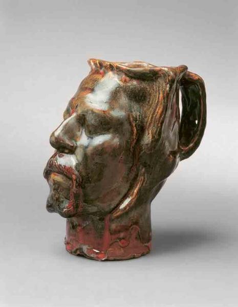 Pot en forme de tête, Autoportrait, 1889