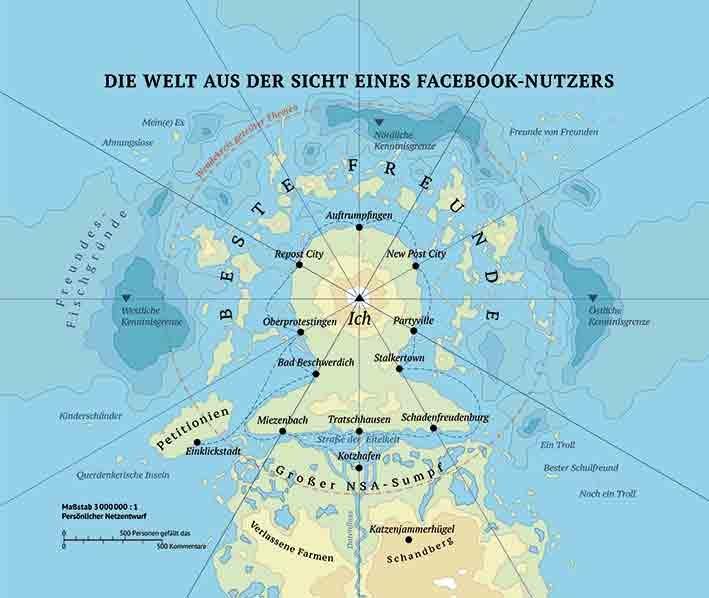 Europa aus der Sicht eines Facebook-Nutzers