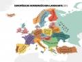 Eurpoäische Horrorküchen Landkarte