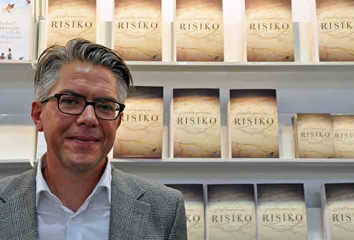 Steffen Kopetzky auf der Leipziger Buchmesse 2015 | © Thomas Hummitzsch