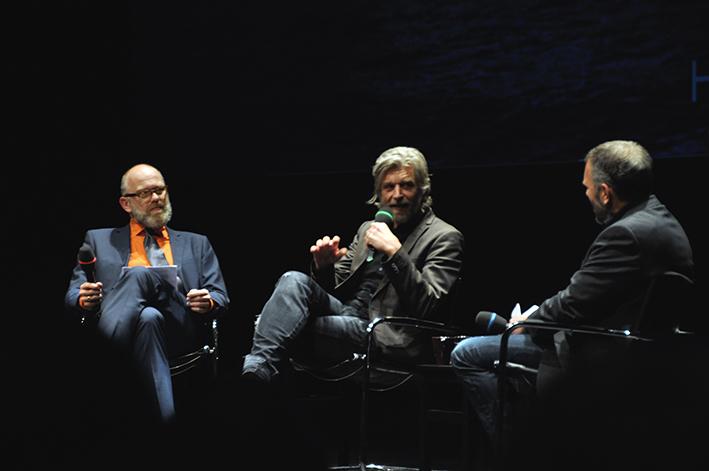 Thomas Böhm, Karl Ive Knausgård und Dirk Knipshals sprachen vor allem über »Träumen«, den 5. Teil des Großromans »Min Kamp«