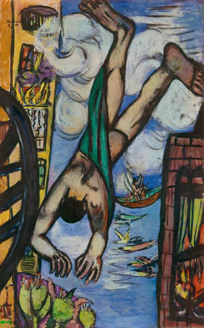 Max Beckmann (1884-1950). Abstürzender, 1950. Öl auf Leinwand, 141 x 88,8 cm. Foto: Image courtesy of the National Gallery of Art, Washington | © VG Bild-Kunst, Bonn 2011