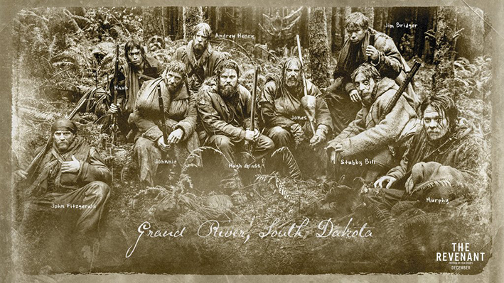 The Rocky Mountain Fur Company: Leonardo Di Caprio, Tom Hardy, Domhnall Gleeson, and Will Poulter in »TheRevenant« | #TheRevenant