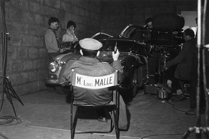 Louis Malle bei den Dreharbeiten zu »Die Liebenden« | Louis Malle