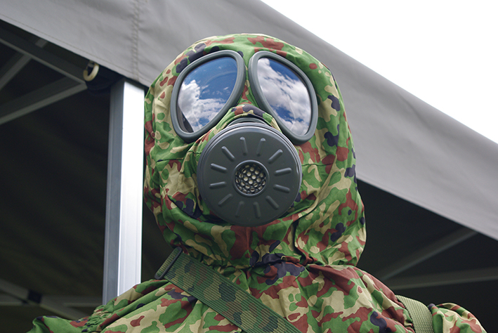 JGSDF Gas mask | Taken by Los688 in Camp Omiya, Japan | Wikimedia Commons
