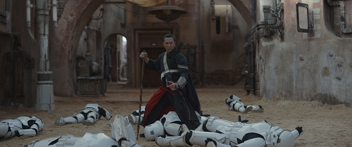 Rogue One: A Star Wars Story (Donnie Yen) | Ph: Film Frame ©Lucasfilm LFL