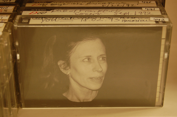Assorted audio cassette tapes of Meredith Monk work, with Meredith Monk photo insert | BrillLyle via Wikimedia commons