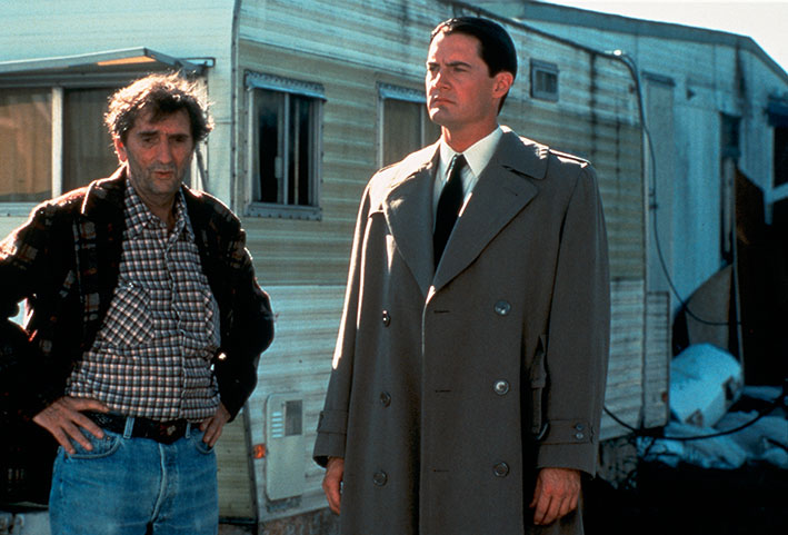 Harry Dean Stanton und Kyle MacLachlan in David Lynchs legendärer Serie »Twin Peaks«