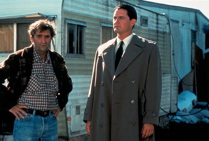 Harry Dean Stanton und Kyle MacLachlan in David Lynchs legendärer Serie »Twin Peaks«